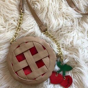 Cherry pie crossbody bag purse pocketbook